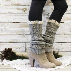 Ladies boot warmers topper's trending winter 2019 Red snowflake super cute
