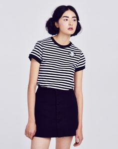 Lazy Oaf x Casper Stripe T-shirt