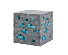 Kids Love Minecraft Night Stand Bedroom Light Up Diamond Ore Novelty Display