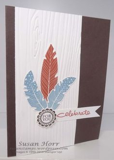 Fine Feather, A Round Array, Stampin Up, susanstamps.wordpress.com