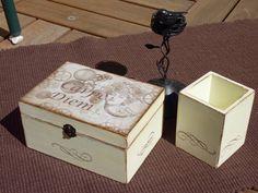 CAJAS DE MADERA PINTADA Decoupage Box, Decorative Boxes, Crafts, Handmade, Diy, Bush, Dozen, Furniture Refinishing, Home Decor