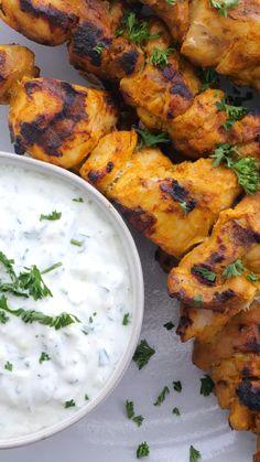 Spicy Chicken Recipes, Veg Recipes, Indian Food Recipes, Vegetarian Recipes, Dinner Recipes, Cooking Recipes, Healthy Recipes, Indian Chicken Marinade, Chicken Skewers Marinade