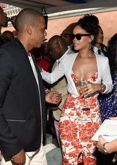 Beyoncé, Rihanna, and Kim Kardashian Show Some Skin at Roc Nation's Pre-Grammy Party Rihanna Daily, Rihanna Mode, Rihanna Riri, Rihanna Style, Rihanna Fashion, Rihanna Outfits, Celebrity Dresses, Celebrity Style, Divas