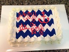 Nautical baby shower cake #ahoyitsaboy