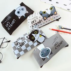 Cute Pencil Case, Sunglasses Case, China, Cats, Color Black, Products, Shopping, Lifestyle, Beauty