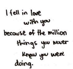 ((( <3 ))) i fell In love With You V^V <3 V^V....