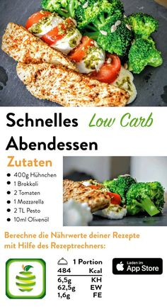 Low Carb Abendessen – Choose Your Level™ Low Carb Rezepte schnell, Low Carb Rezepte Abendessen, Low Carb Rezepte Mittagessen, Low Carb Rezepte Brokkoli, Low Carb [. Carb Free Dinners, Fast Dinners, Easy Meals, Easy Healthy Recipes, Low Carb Recipes, Healthy Snacks, Fast Recipes, Quick Easy Dinner, Lunch
