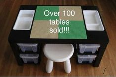 DIY Lego Table Ideas with Loads of Storage - Organised Pretty HomeYou can find Lego table and more on our website.DIY Lego Table Ideas with Loads of Storage - Or. Kids Table With Storage, Table Storage, Diy Storage, Storage Organization, Smart Storage, Storage Hacks, Bedroom Storage, Storage Shelves, Storage Solutions