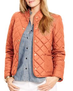 Lauren Ralph Lauren Plus Diamond Quilted Jacket