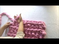 How to Hand Crochet a Blanket in One Hour - Simply Maggie - YouTube
