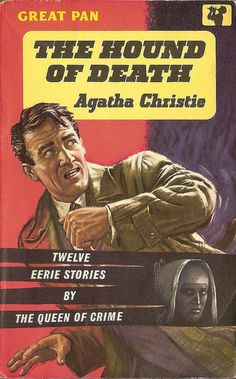 The Hound of Death by Agatha Christie. Cover art by Sam Peffer.  Vintage Pan paperback book cover.