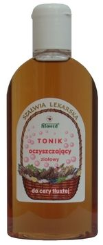 Tonik ziołowy oczyszczający do cery tłustej (Szałwia lekarska) 200 ml