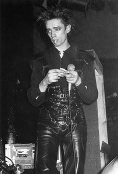 Propaganda cult goth magazine archives Blixa Bargeld of Einsturzende Neubauten, Danceteria, NYC, 1984 Photography Fred H. Berger