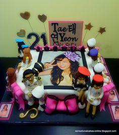 EXO K Baekhyun Birthday Cake! FOREVER SHIPPING Kris and his perfect ...
