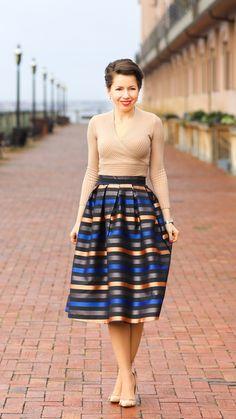 Stripe AT pencil skirt