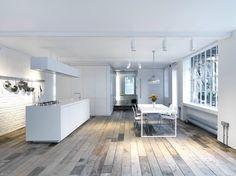 HI-MACS® Acrylic Stone for a loft in London