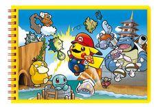 Pokemon Center Original Notebook Note Mario Pikachu Japan