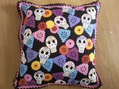 mexican skulls pillow