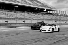 Looking for similar pins? Follow me! http://kohlsson.link/1W5N6ws | kevinohlsson.com Porsche 911 GT3 Overtaking a Nissan GTR at COTA [1600x1067] [OC]