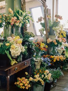 colorful wedding flowers inspired by the dutch masters | via: once wed