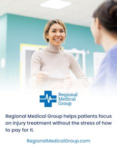 Regional Medical group helps patients focus on injury treatment without the stress of how to pay for it. #regionalmedicalgroup #injury