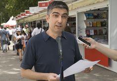 9/06/16 MICRO DE LA FERIA: Javier Rodríguez Marcos (Poeta y Periodista).  Foto © Jorge Aparicio/ FLM16