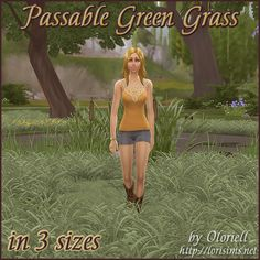 Passable Green Grass for The Sims 4 by Oloriell