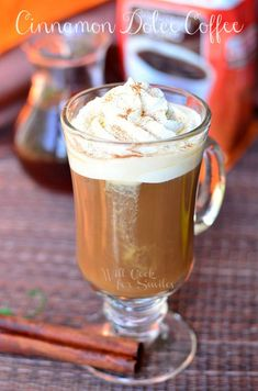 Cinnamon Dolce Coffee Drink {Homemade Cinnamon Dolce Syrup} - Will Cook For Smiles