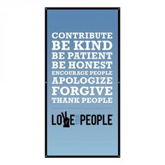 Love Your People banner. Meeting decoration or hanging inspiration.