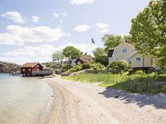 Det vackra huset från 1870 ligger på Fläskön i Fjällbacka.