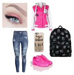 """""""back to school"""" by iva-vrbetic ❤ liked on Polyvore featuring Casetify and H&M"""