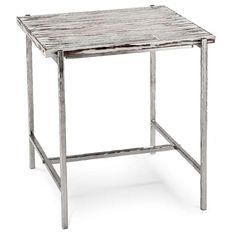 Regina Andrew Soft Silver End Table  shopcandelabra.com