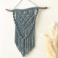Modern macrame Macrame wall hanging boho wall decor macrame Bohemian Wall Decor, Recycled Yarn, Macrame Art, Diy Wall Art, Knots, Etsy Shop, Knitting, Wall Hangings, Awesome Stuff