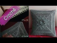 DIY - Crochê - Almofada Com Flor Em Relevo(Passo a Passo) - YouTube