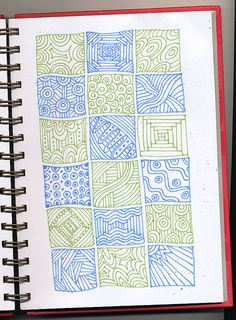 Kind of a quilt zentangle Tangle Doodle, Tangle Art, Doodles Zentangles, Zen Doodle, Zentangle Patterns, Doodle Books, Doodle Art Journals, Doddle Art, Kids Art Class