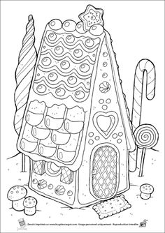 Irresistible Embroidery Patterns, Designs and Ideas. Awe Inspiring Irresistible Embroidery Patterns, Designs and Ideas. House Colouring Pages, Coloring Pages For Girls, Coloring Book Pages, Coloring For Kids, Printable Coloring Pages, Free Coloring, Christmas Colors, Christmas Art, Hansel Y Gretel