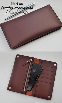593344291d1d Leather wallet, custom wallet, Wallet Mens, Wallet women's, Long wallet,  Iphone