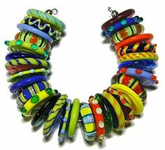*AMR* Fun Discs Lampwork Beads SRA