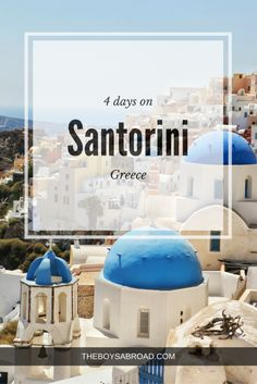 A guide on how to spend 4 days on Santorini.  #Oia #Santorini #Greece