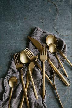 Amazing gold flatware from Zola https://www.zola.com/product_look_key/mepra_iceoro20?pkey=weddingchicks1