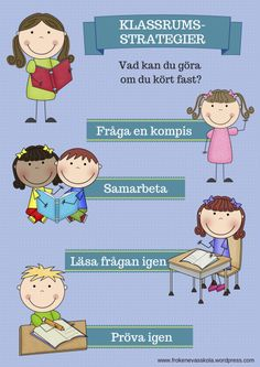 Klassrumsstrategier_1 Teacher Education, School Teacher, Learn Swedish, Swedish Language, Kids Planner, School Decorations, Classroom Inspiration, Teaching Materials, School Hacks