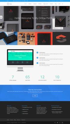 Divi - WordPress Theme 2.0. (Portfolio Version) #web #design