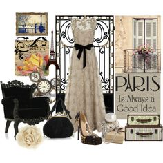 Pearls, Lace and Paris, created by beachpeace on Polyvore