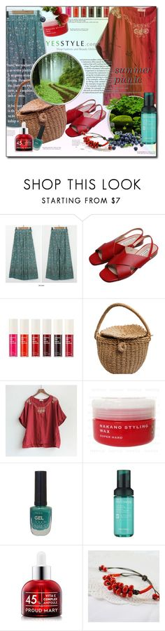 """""""Share your summer picnic outfit and WIN US$40 store coupons!"""" by oksi-k ❤ liked on Polyvore featuring Goroke, The Face Shop and Tony Moly"""