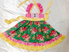 Girls Dress Size 2T; Sweat Ellie Halter; Handmade; Everyday Use; 100 % Cotton #Handmade #Everyday