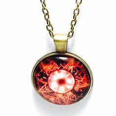 Red star graphic necklace *Graphic necklace 18 inch chain 1 inch pendant Jewelry Necklaces