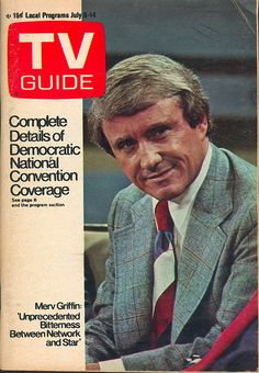 "July 8, 1972. Merv Griffin of the syndicated ""The Merv Griffin Show."""
