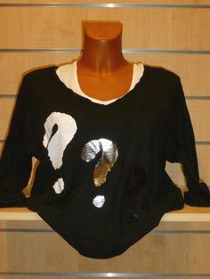 Tee-shirt noir Interro Carla Giannini