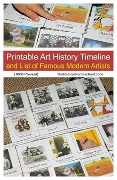 This is an awesome activity that mixes History and Art because it includes a free printable Art History timeline and list of famous modern artists! timeline Printable Art History Timeline and List of Famous Modern Artists - The Natural Homeschool Art History Timeline, Art Timeline, Art History Memes, Nasa History, Timeline Project, History Museum, Timeline Ideas, History Books, Ancient History
