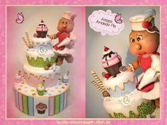 Festa cupcake 2 + bolo cupcake + chá panela personalizado